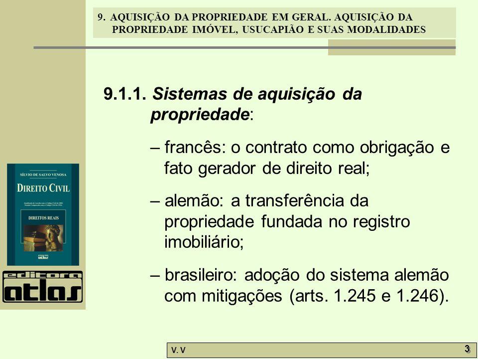 9.1.1. Sistemas de aquisição da propriedade: