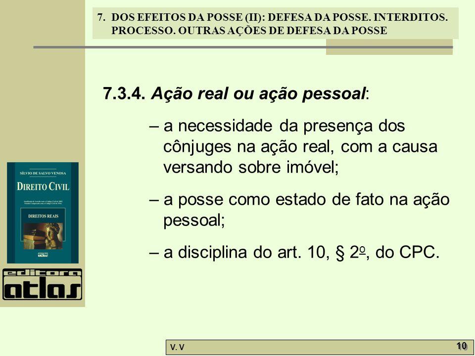 7.3.4. Ação real ou ação pessoal:
