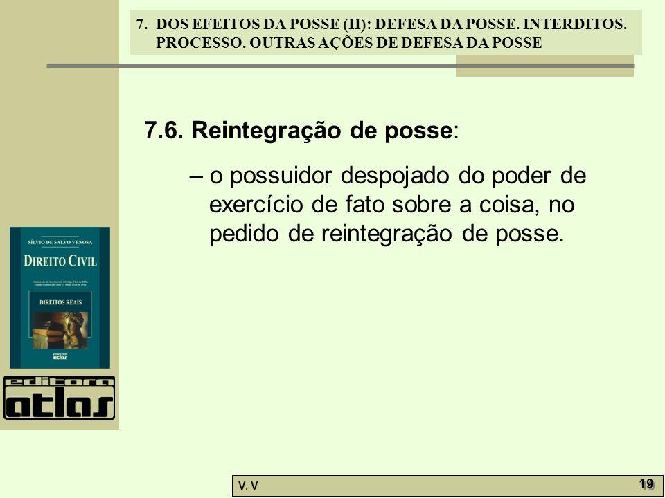 7.6. Reintegração de posse: