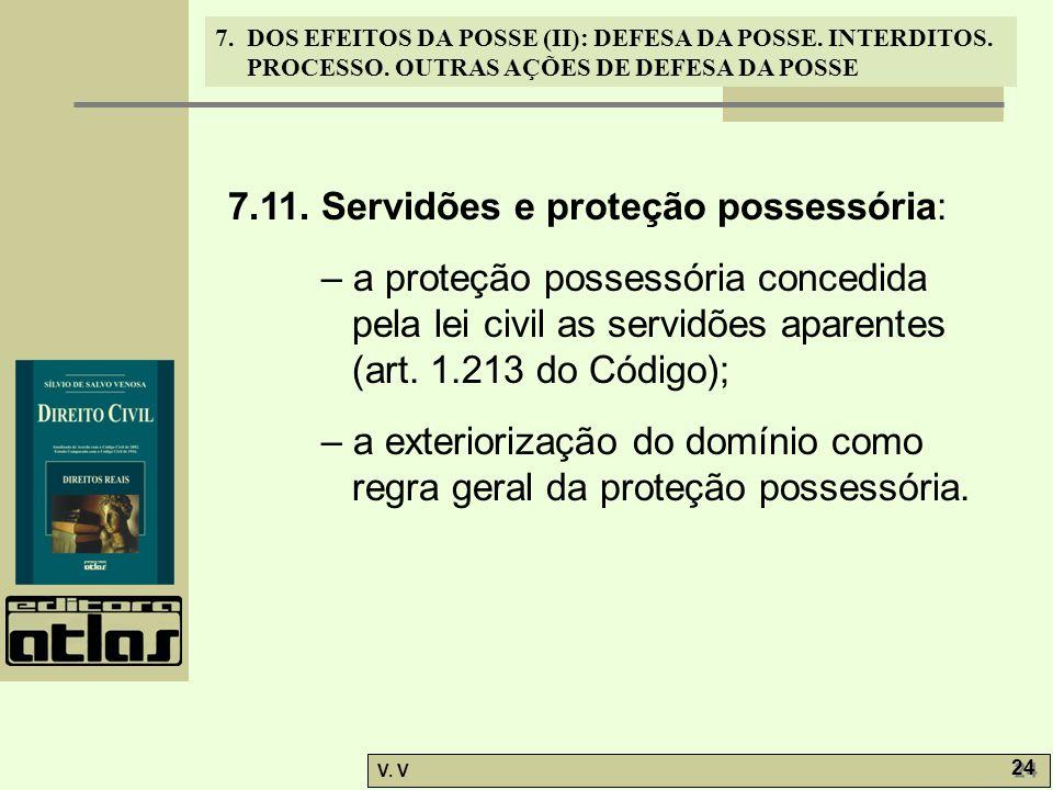 7.11. Servidões e proteção possessória: