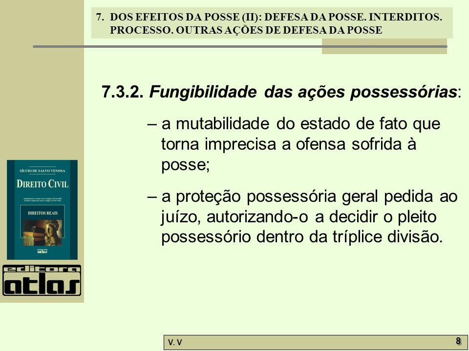 7.3.2. Fungibilidade das ações possessórias: