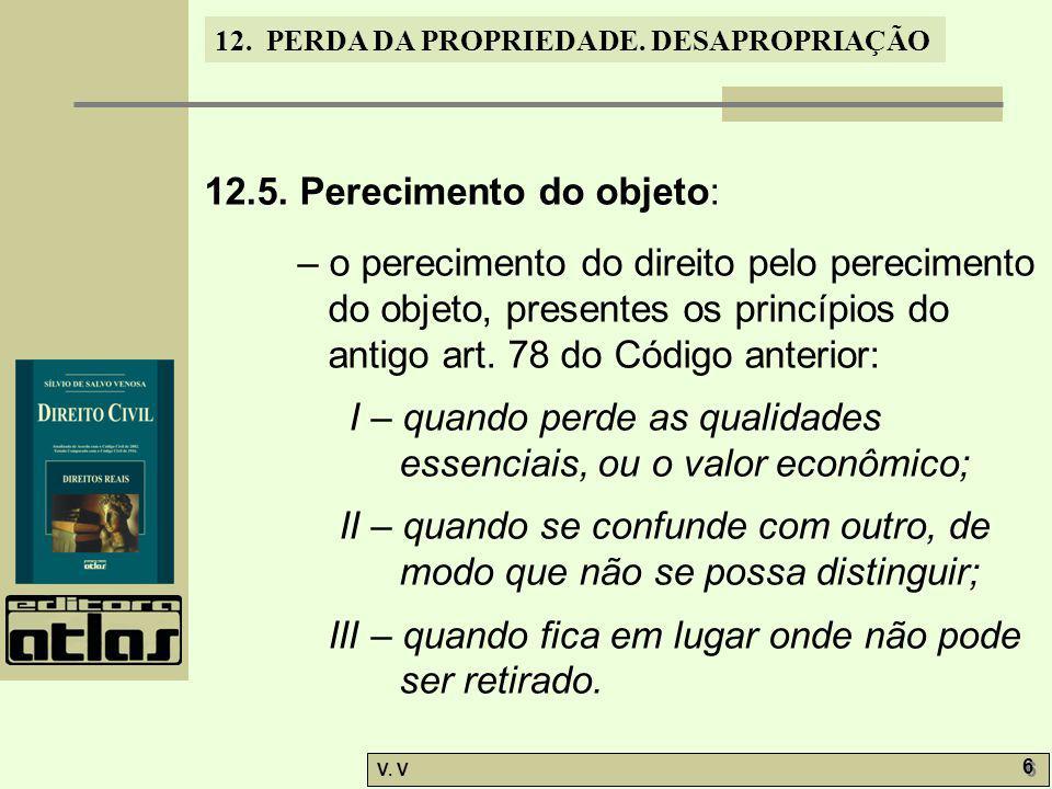 12.5. Perecimento do objeto: