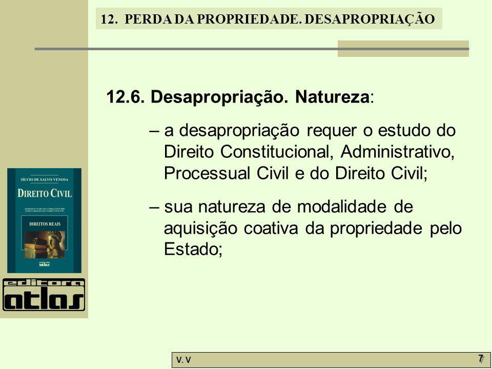 12.6. Desapropriação. Natureza: