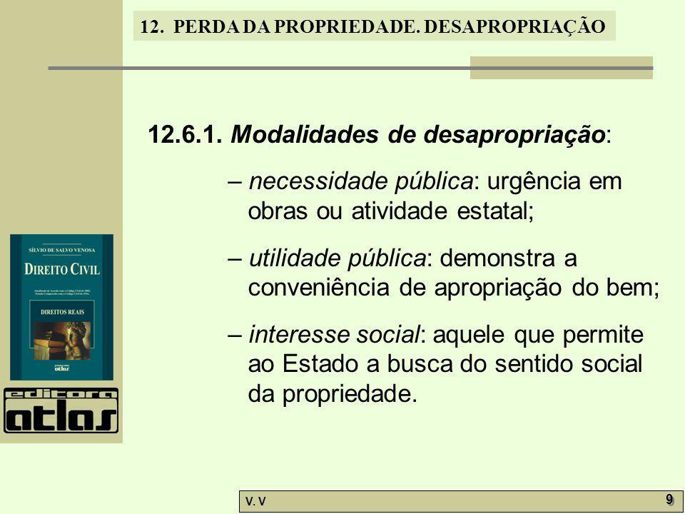 12.6.1. Modalidades de desapropriação: