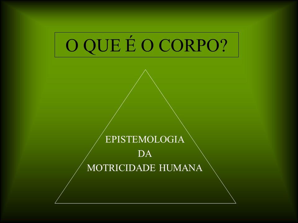 O QUE É O CORPO EPISTEMOLOGIA DA MOTRICIDADE HUMANA
