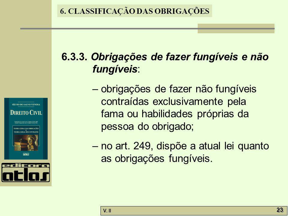 6.3.3. Obrigações de fazer fungíveis e não fungíveis: