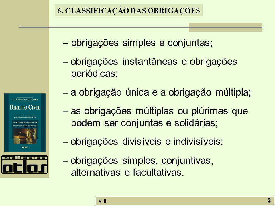 – obrigações simples e conjuntas;