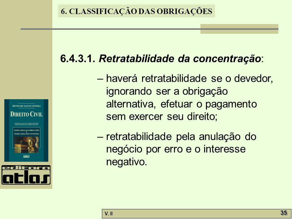 6.4.3.1. Retratabilidade da concentração: