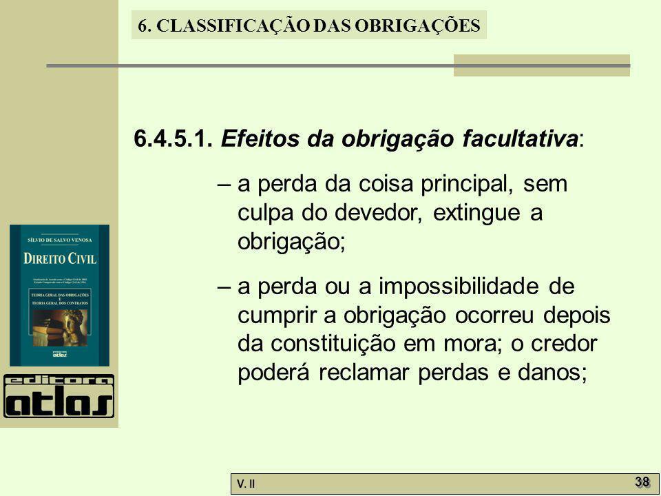 6.4.5.1. Efeitos da obrigação facultativa: