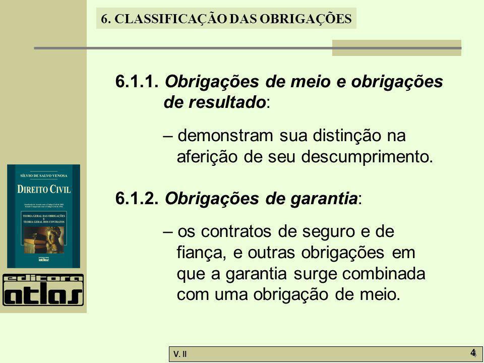 6.1.1. Obrigações de meio e obrigações de resultado: