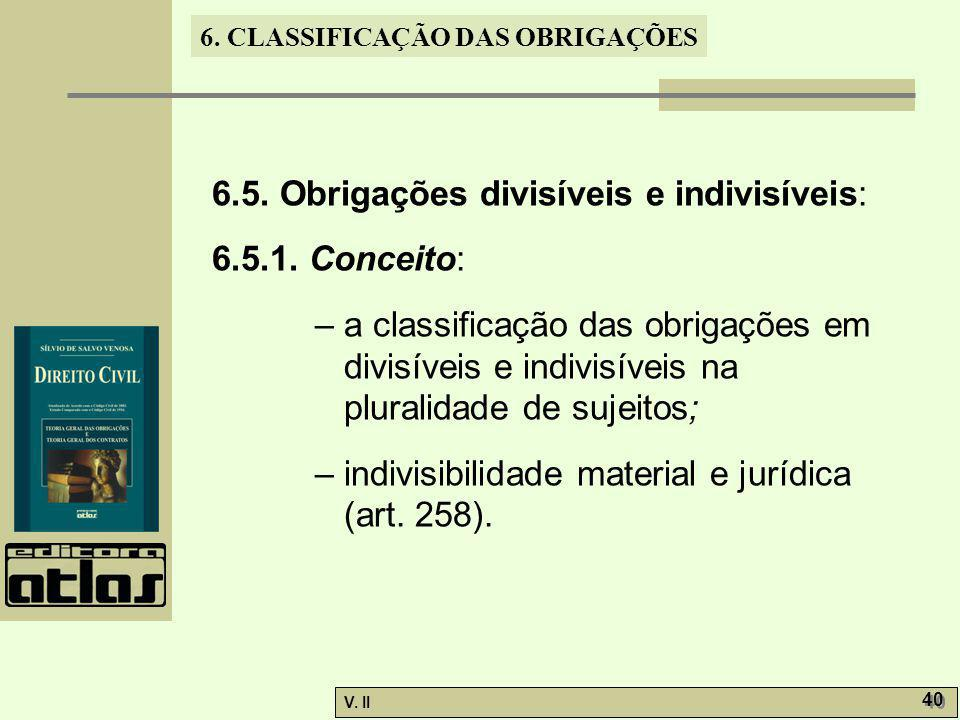 6.5. Obrigações divisíveis e indivisíveis: