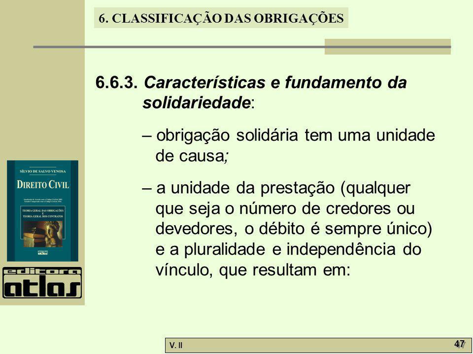 6.6.3. Características e fundamento da solidariedade:
