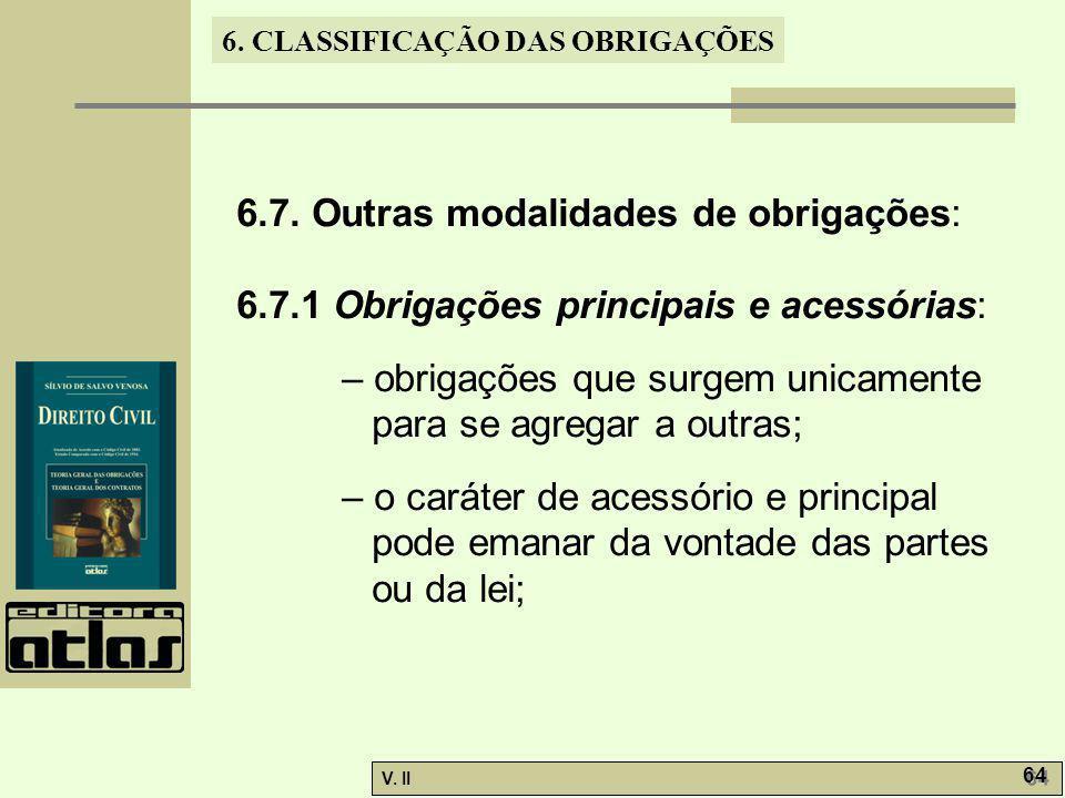 6.7. Outras modalidades de obrigações: