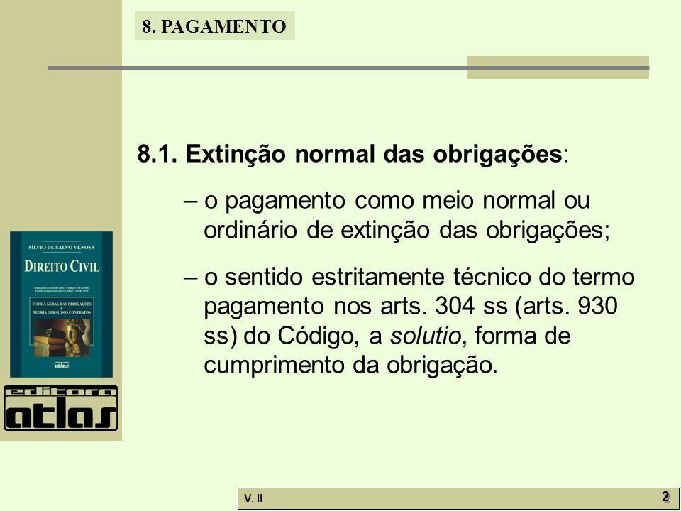 8.1. Extinção normal das obrigações: