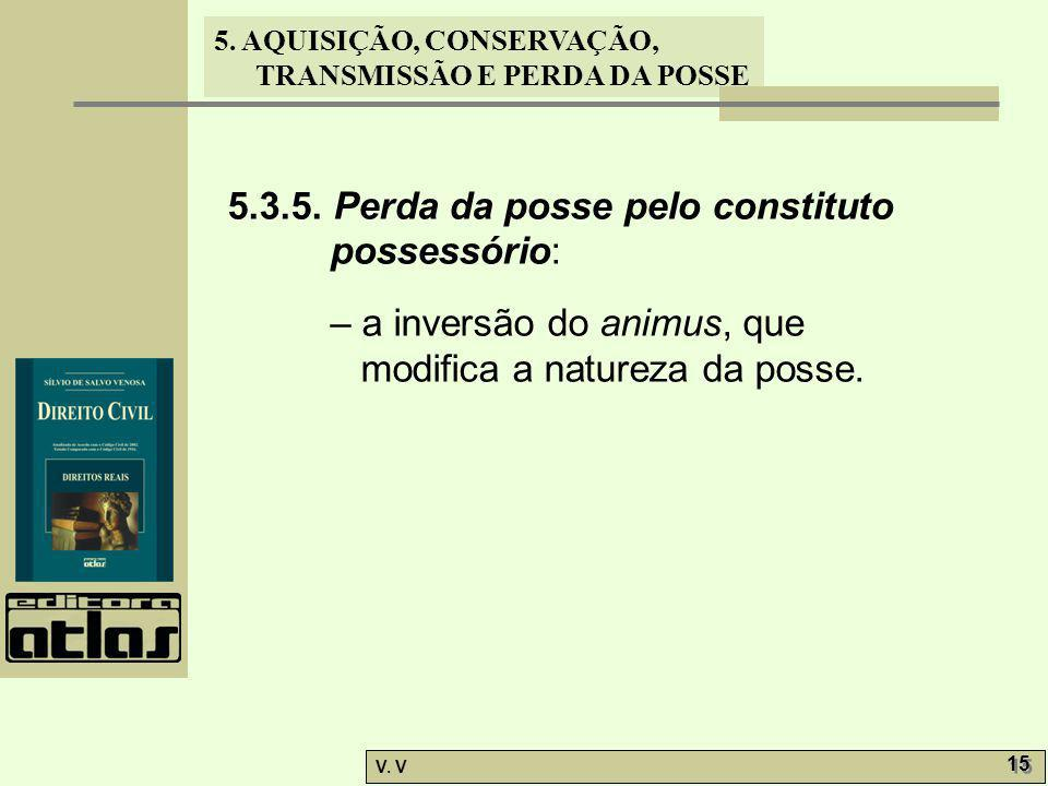 5.3.5. Perda da posse pelo constituto possessório: