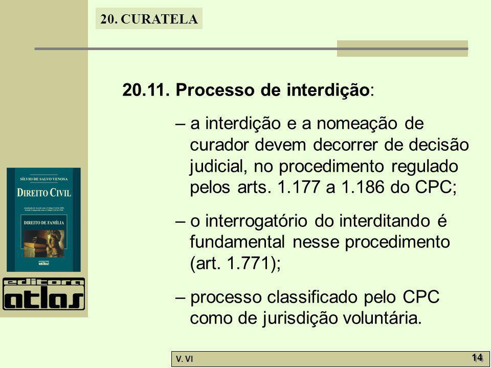 20.11. Processo de interdição: