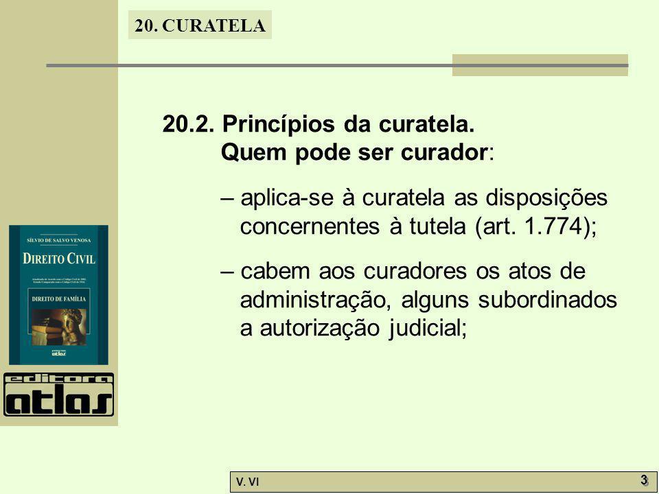 20.2. Princípios da curatela.