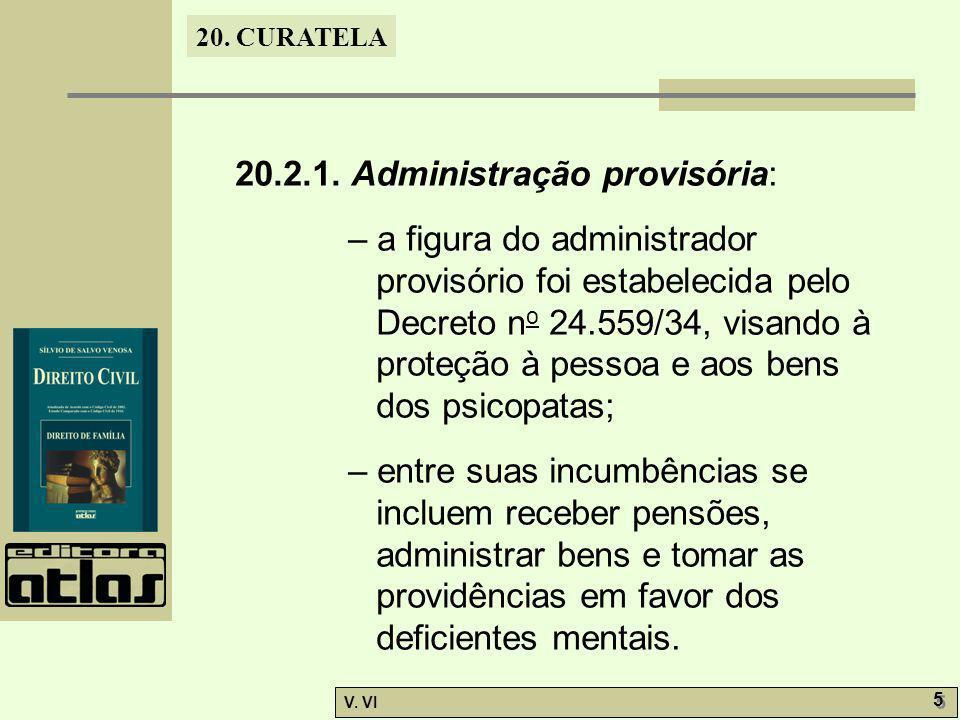 20.2.1. Administração provisória: