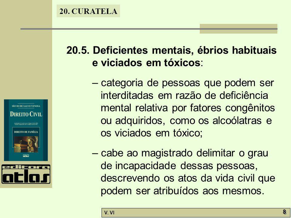 20.5. Deficientes mentais, ébrios habituais e viciados em tóxicos: