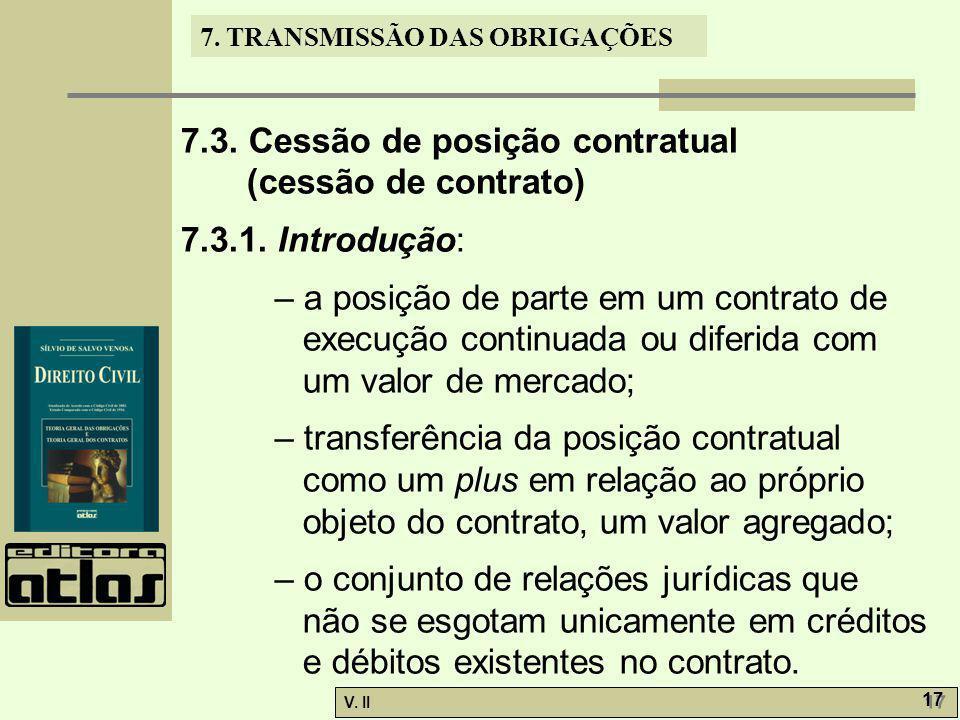 7.3. Cessão de posição contratual