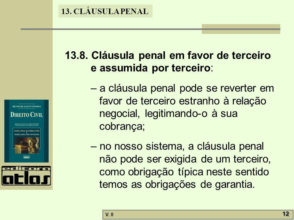 13.8. Cláusula penal em favor de terceiro e assumida por terceiro: