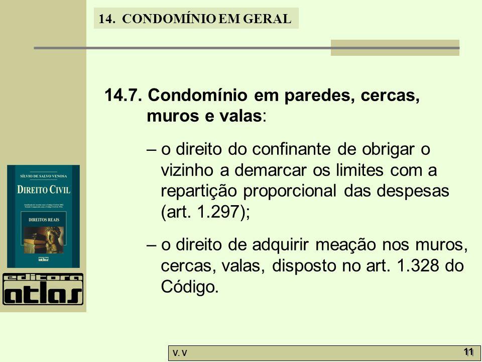 14.7. Condomínio em paredes, cercas, muros e valas: