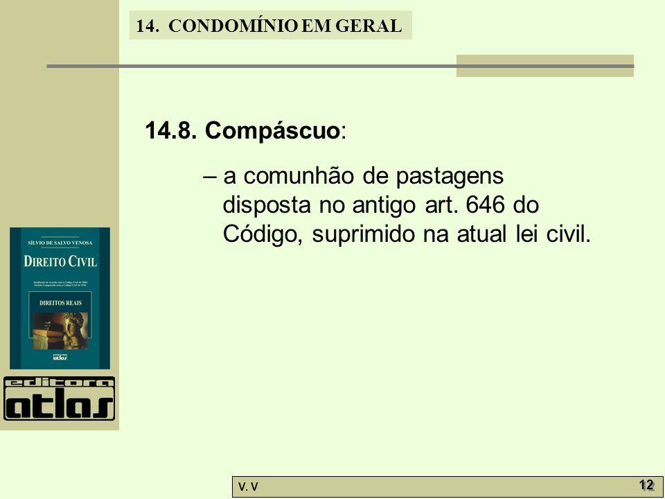 14.8. Compáscuo: – a comunhão de pastagens disposta no antigo art.