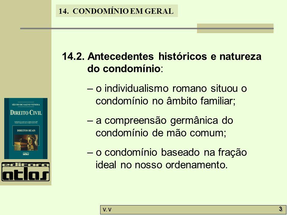14.2. Antecedentes históricos e natureza do condomínio: