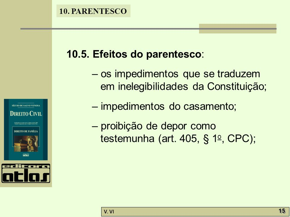 10.5. Efeitos do parentesco: