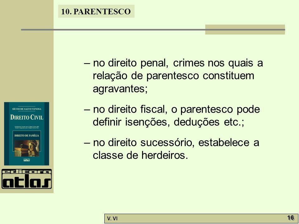 – no direito penal, crimes nos quais a relação de parentesco constituem agravantes;