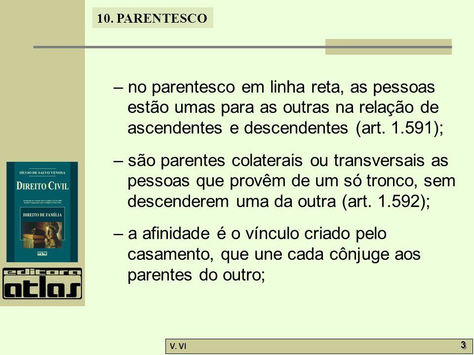 – no parentesco em linha reta, as pessoas estão umas para as outras na relação de ascendentes e descendentes (art. 1.591);