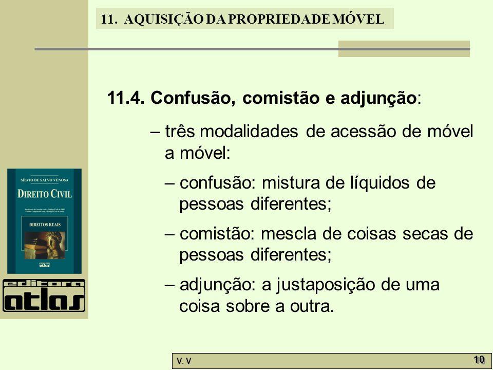 11.4. Confusão, comistão e adjunção: