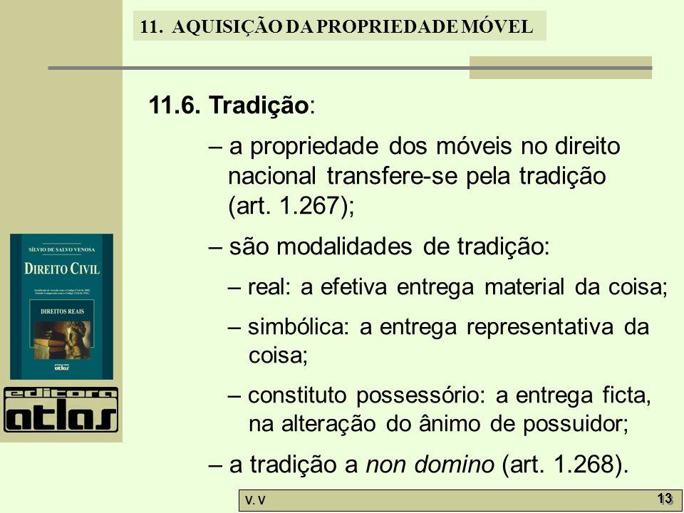 – são modalidades de tradição: