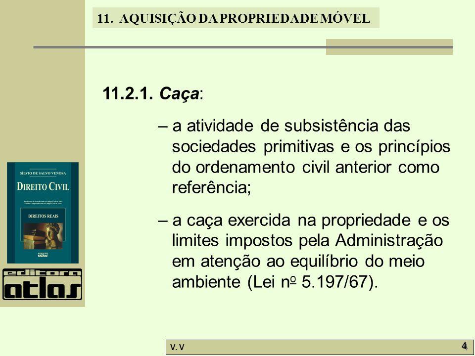 11.2.1. Caça: – a atividade de subsistência das sociedades primitivas e os princípios do ordenamento civil anterior como referência;
