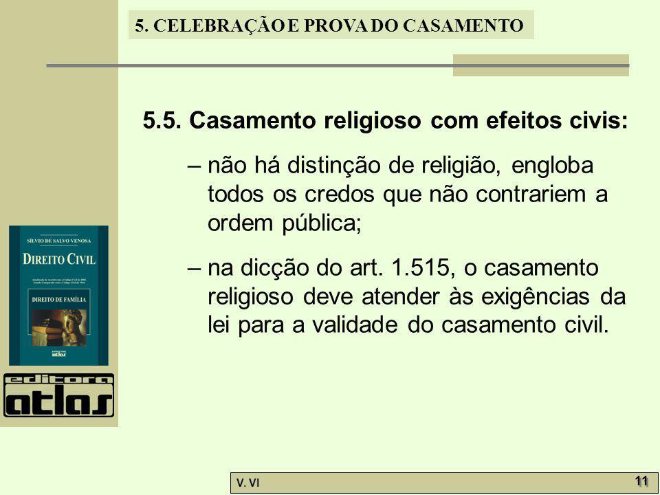 5.5. Casamento religioso com efeitos civis: