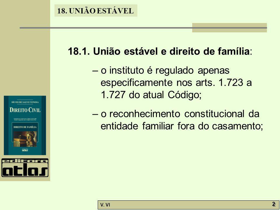 18.1. União estável e direito de família: