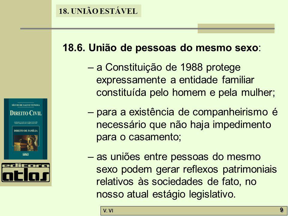 18.6. União de pessoas do mesmo sexo: