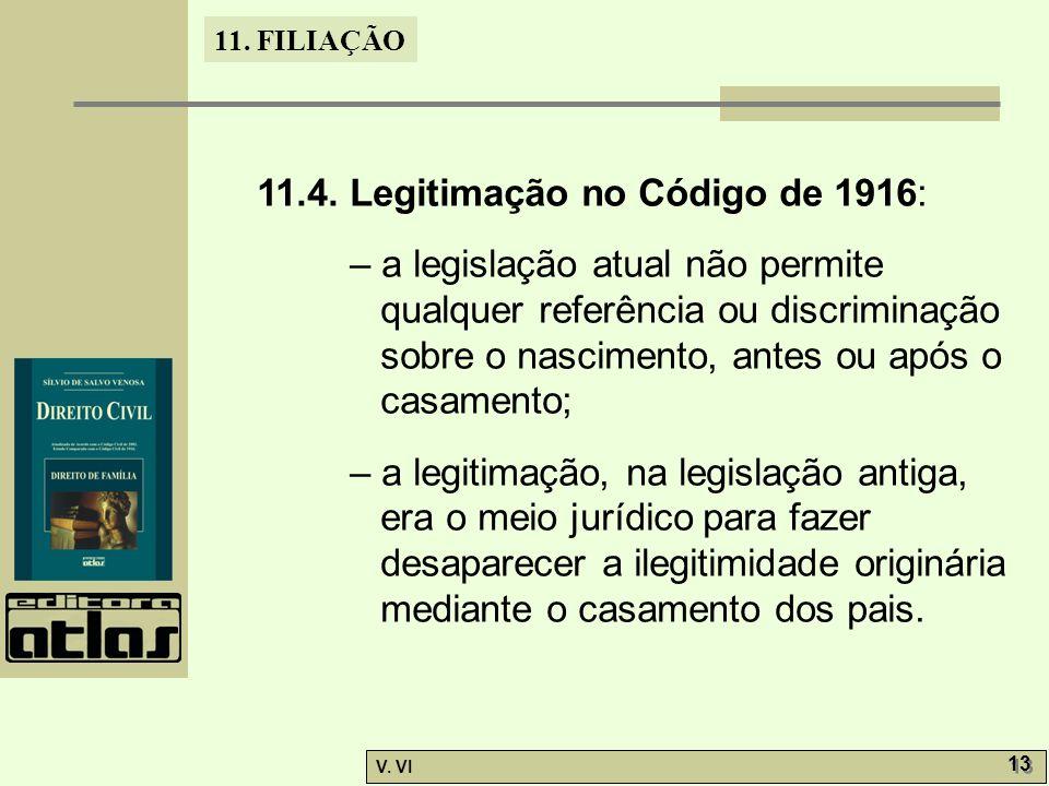 11.4. Legitimação no Código de 1916: