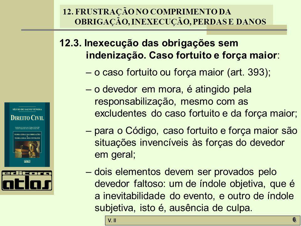 12. 3. Inexecução das obrigações sem indenização