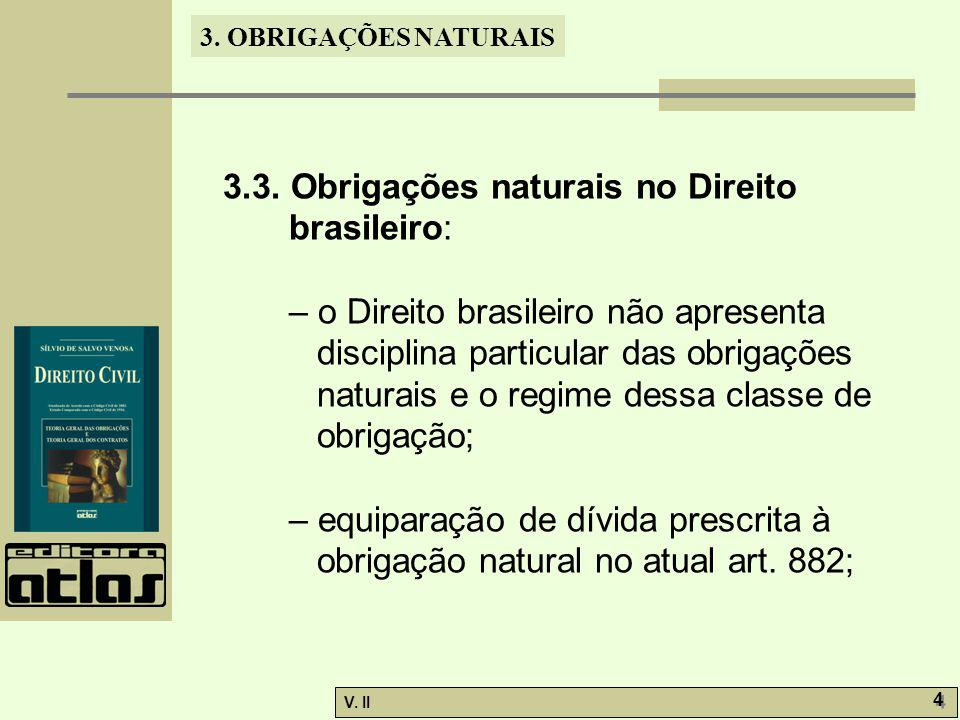 3.3. Obrigações naturais no Direito brasileiro: