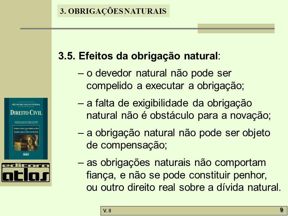 3.5. Efeitos da obrigação natural: