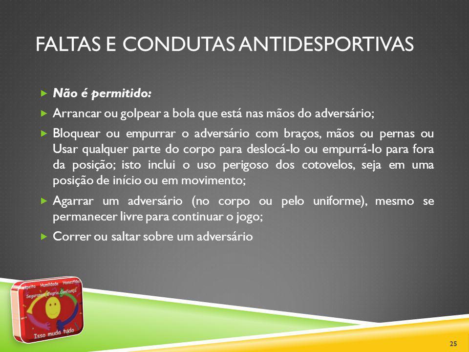 FALTAS E CONDUTAS ANTIDESPORTIVAS