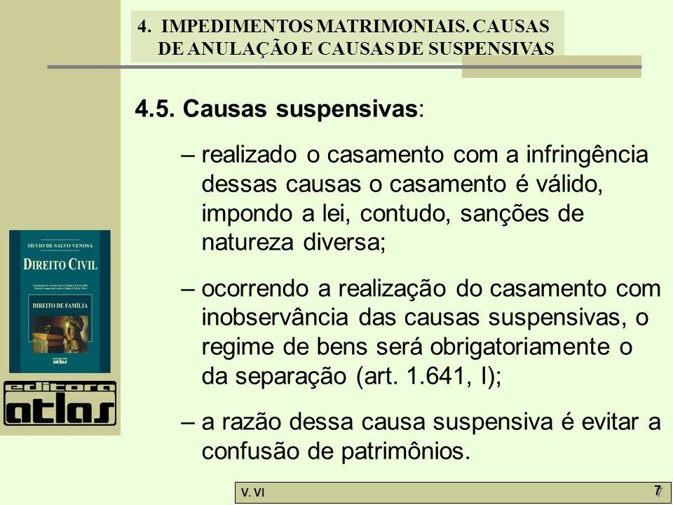 4.5. Causas suspensivas: