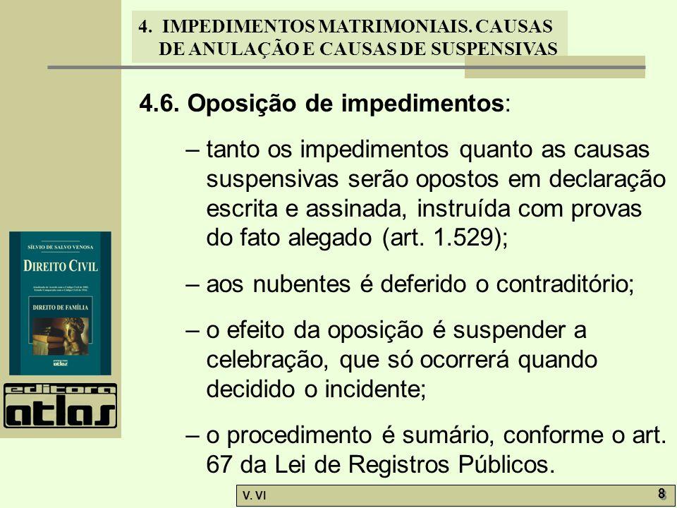 4.6. Oposição de impedimentos: