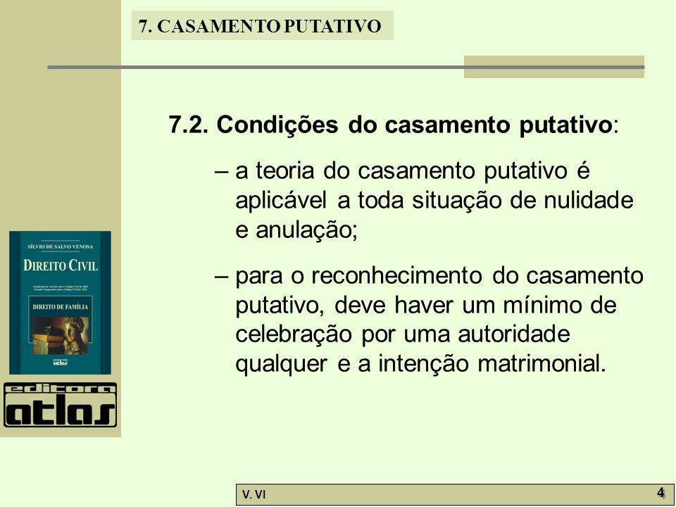 7.2. Condições do casamento putativo: