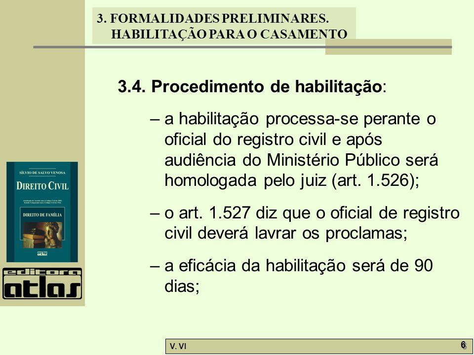 3.4. Procedimento de habilitação: