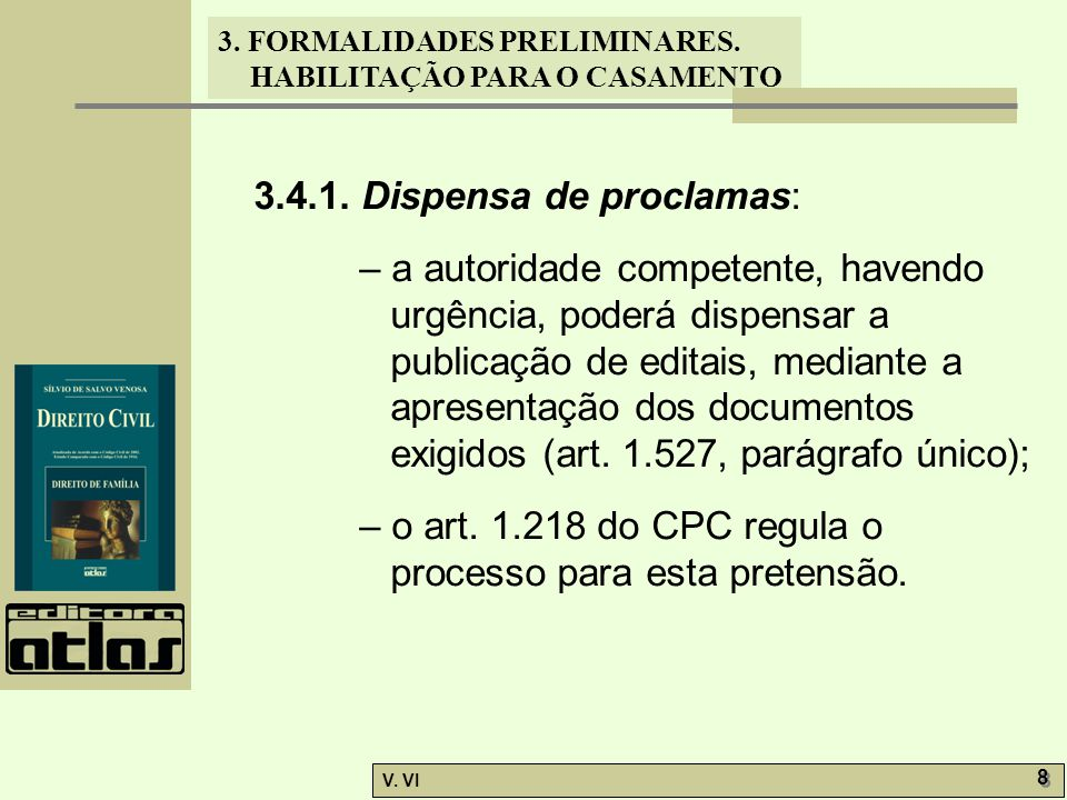 3.4.1. Dispensa de proclamas: