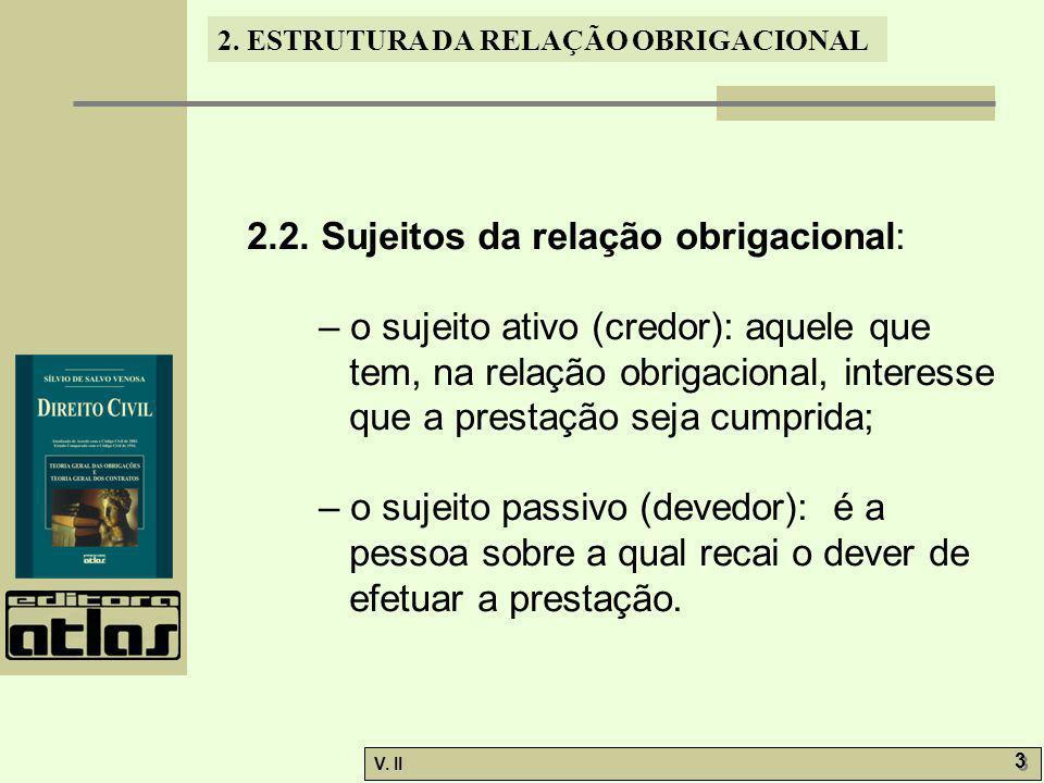 2.2. Sujeitos da relação obrigacional: