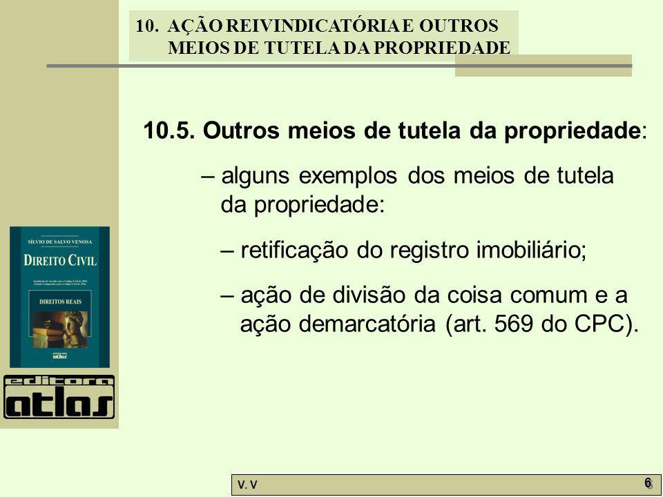 10.5. Outros meios de tutela da propriedade:
