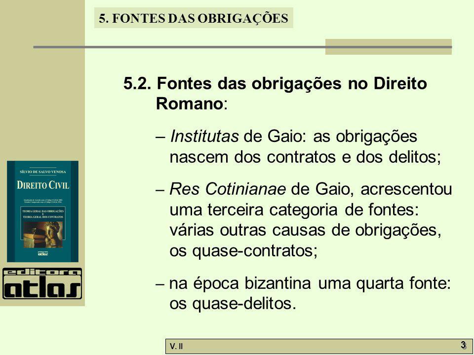 5.2. Fontes das obrigações no Direito Romano:
